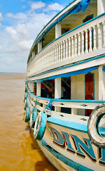 River boat on the Amazon