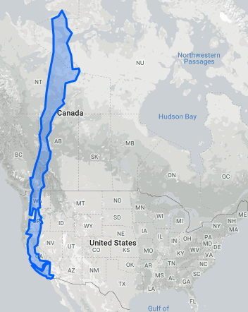 Chile would stretch from San Diego to northern Canada.