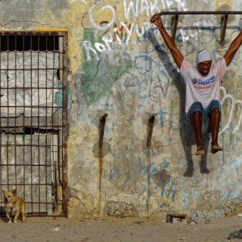 Outdoor Gym, Boa Vista, Cape Verde.
