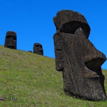 Moai on Easter Island, Chile.