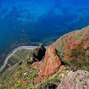 Vertical view from Cabo Girão, west of Funchal.