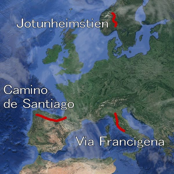 A few completed long walks in Europe.