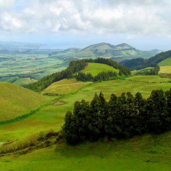 Farmland on Sao Miguel, Azores.