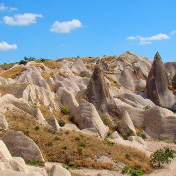 Typical Cappadocia stone towers, Turkey.