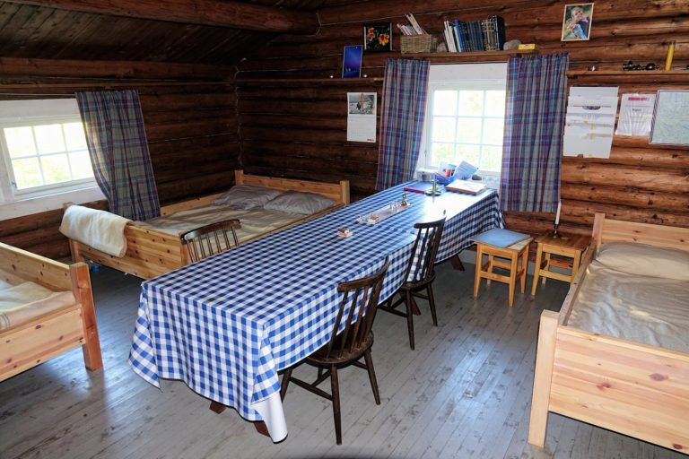 Spending a night inside a cabin, costing me the princely sum of 100 kroner. Firewood and toilet paper included.