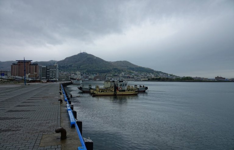 The port of Hakodate, Japan.