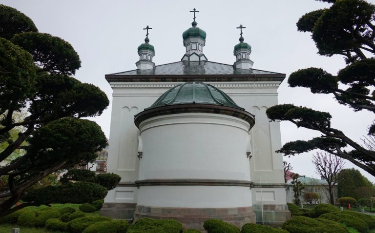 Russian Orthodox church in Hakodate, Japan.
