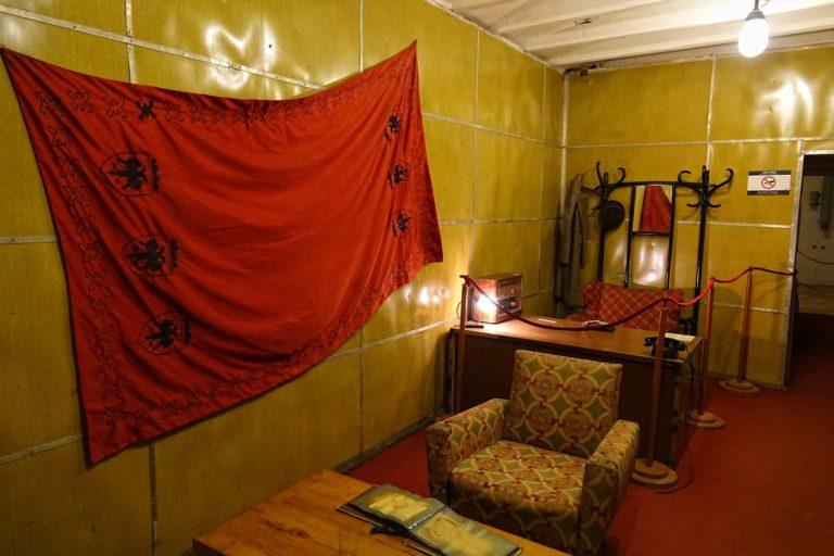 Enver Hoxha's office at the Bunk'Art museum in Tirana, Albania.