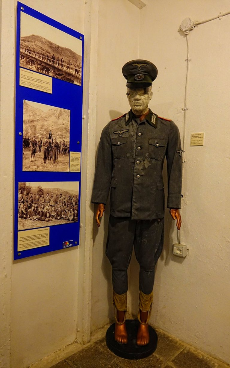 Nazi uniform at the Bunk'Art museum in Tirana, Albania.