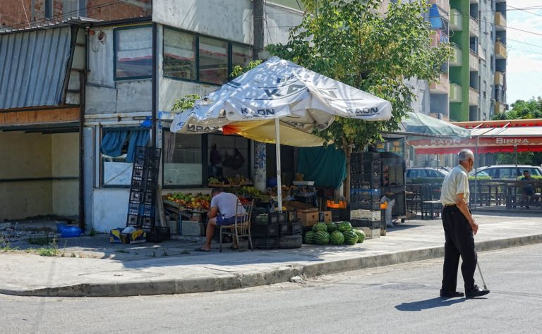 Family-owned grocery store in Durrës, Albania.