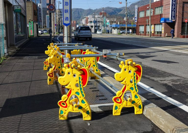 The cutest fencing imaginable in Hakodate, Japan.