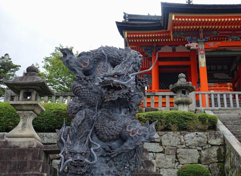 Dragons guarding Kyomizu-dera in Kyoto, Japan.