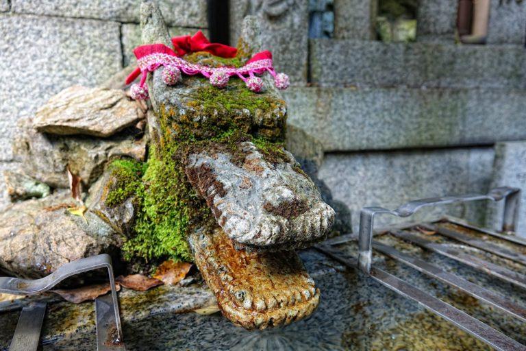 Water dragon at Fushimi Inari Taisha.