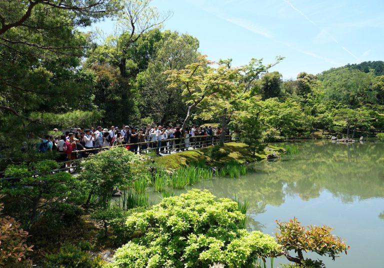 Tourism hell at Kinkaku-ji Golden Pagoda in Kyoto, Japan.