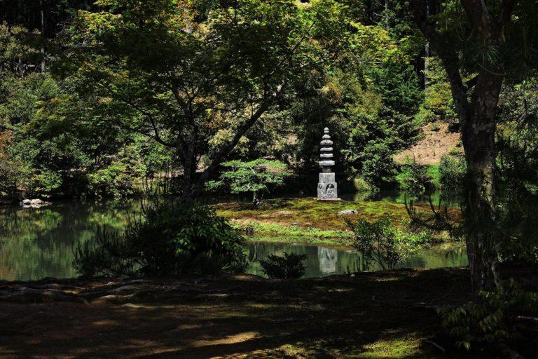 The White Snake Pagoda at Kinkaku-ji.