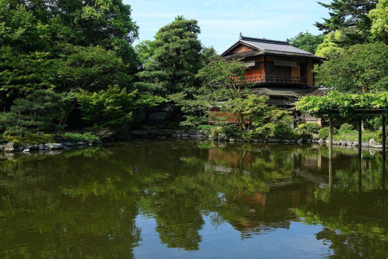 The Kujo Pond in Kyoto, Japan.