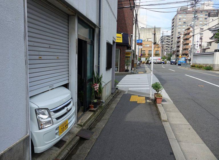Kei car in Kyoto, Japan.