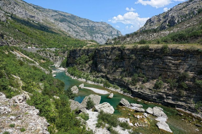 River canyon in northern Montenegro.