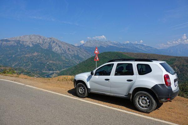 Our rental car, a Dacia Duster.