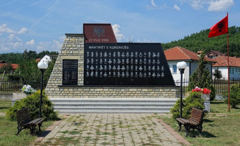 The martyrs of Korenica memorial.