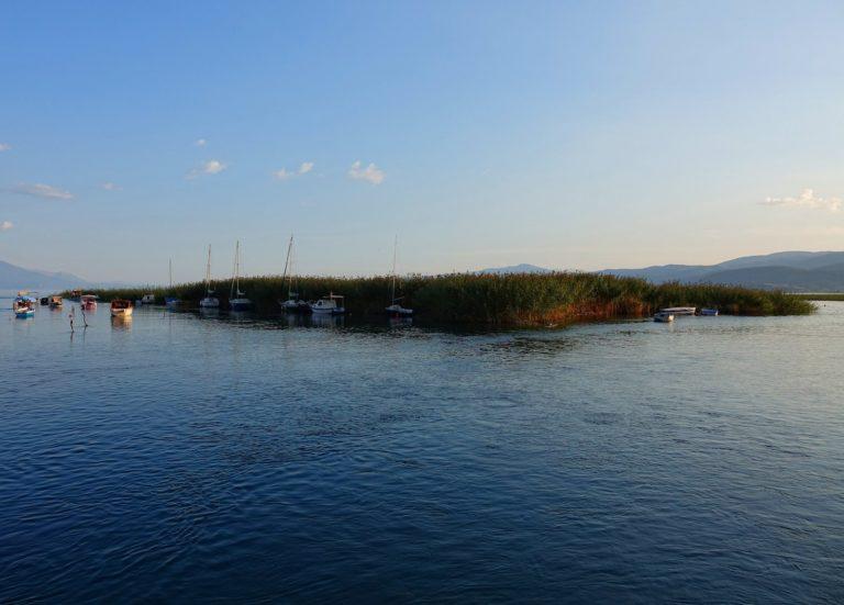 Small island in Lake Ohrid, Macedonia.
