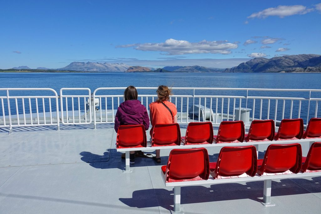 Traveling by ferry on Helgeland is like going on a mini cruise with the best scenery.