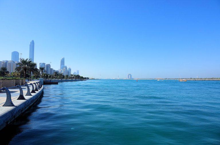 The Corniche, a waterfront promenade in Abu Dhabi.