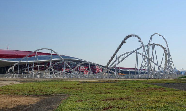 The Flying Aces rollercoaster at Ferrari World Abu Dhabi.