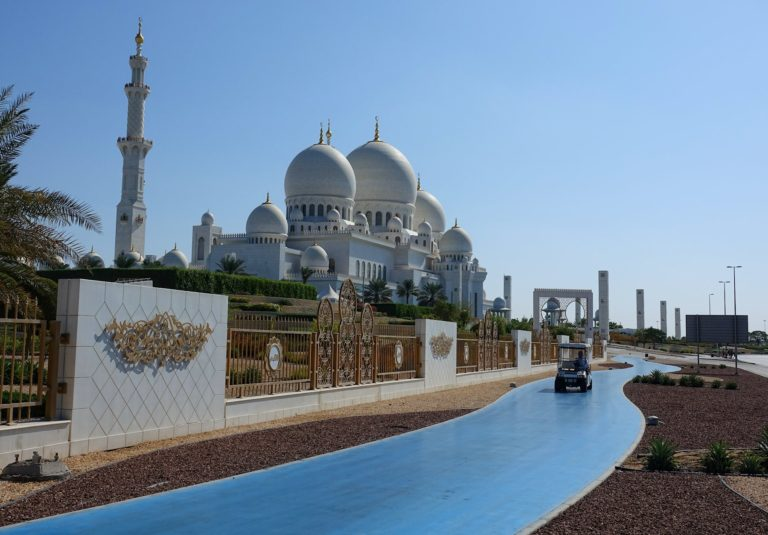 The Sheikh Zayed mosque in Abu Dhabi, United Arab Emirates.
