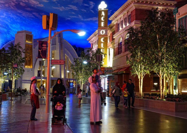 An Arab audience at Warner Bros World, Abu Dhabi.