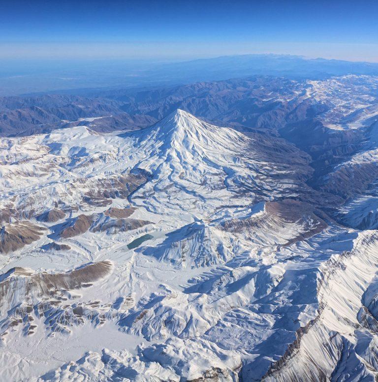 Mount Damavand near Tehran, Iran.