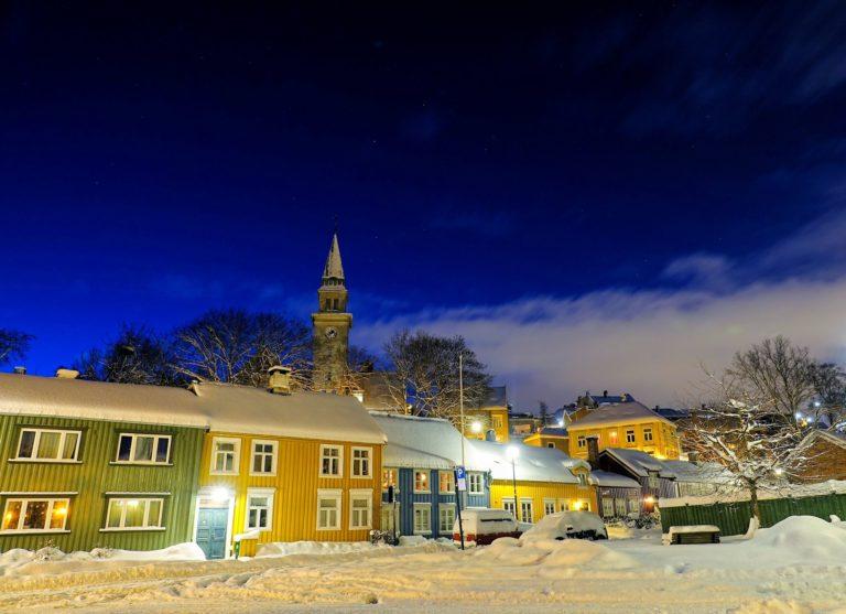 Bakklandet neighbourhood in Trondheim, Norway.