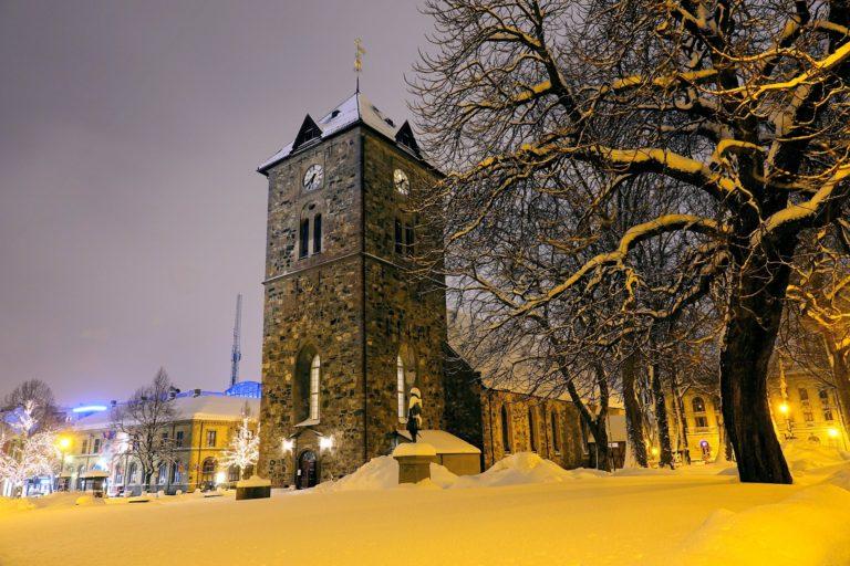 Vår Frue kirke (Notre Dame, Our Lady's Church) in Trondheim, Norway.
