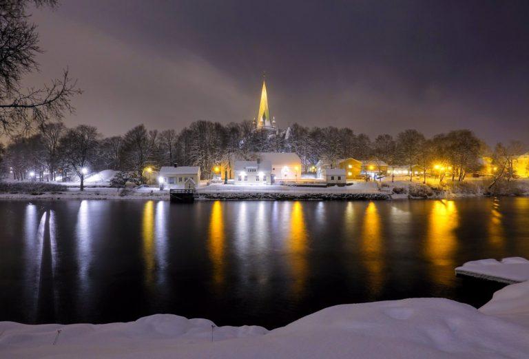 Serenity at Nidelven in Trondheim, Norway.