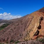 Photo of colored rocks in Maimares, Argentina.