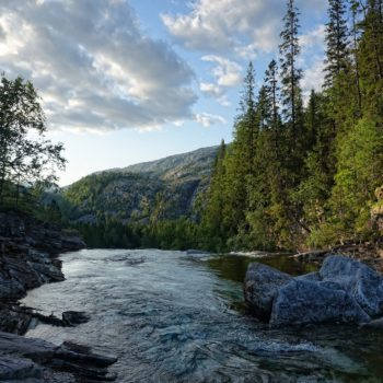 Norwegian nature at its best. River in Lomsdal-Visten national park.