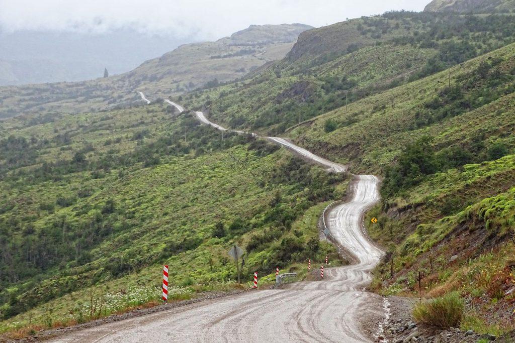 The Carretera Austral, Ruta 7, just north of Cochrane, Chile.