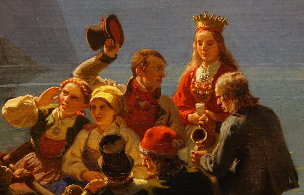 "Detail from ""Brudeferden i Hardanger"", by Tidemand and Gude."