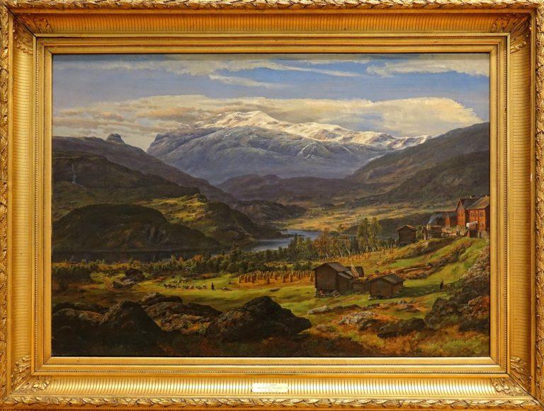 """""""From Hjelle in Valdres"""", by Johan Christian Dahl, 1851."""