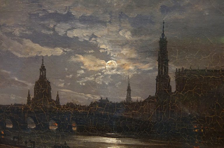 Close-up of Dresden in moonlight, 1838.