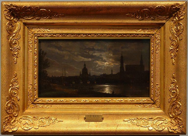 Dresden in moonlight, by John Christian Dahl, 1838.