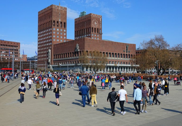 On a sunny April Sunday, half the population of Oslo is out and about after a long and cold winter.