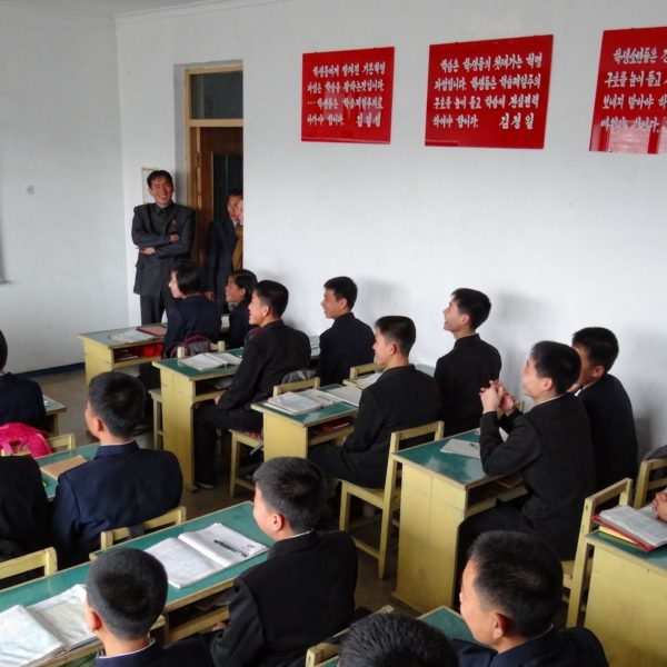 Students at the Kim Jong Suk Higher Middle School for Gifted Children.