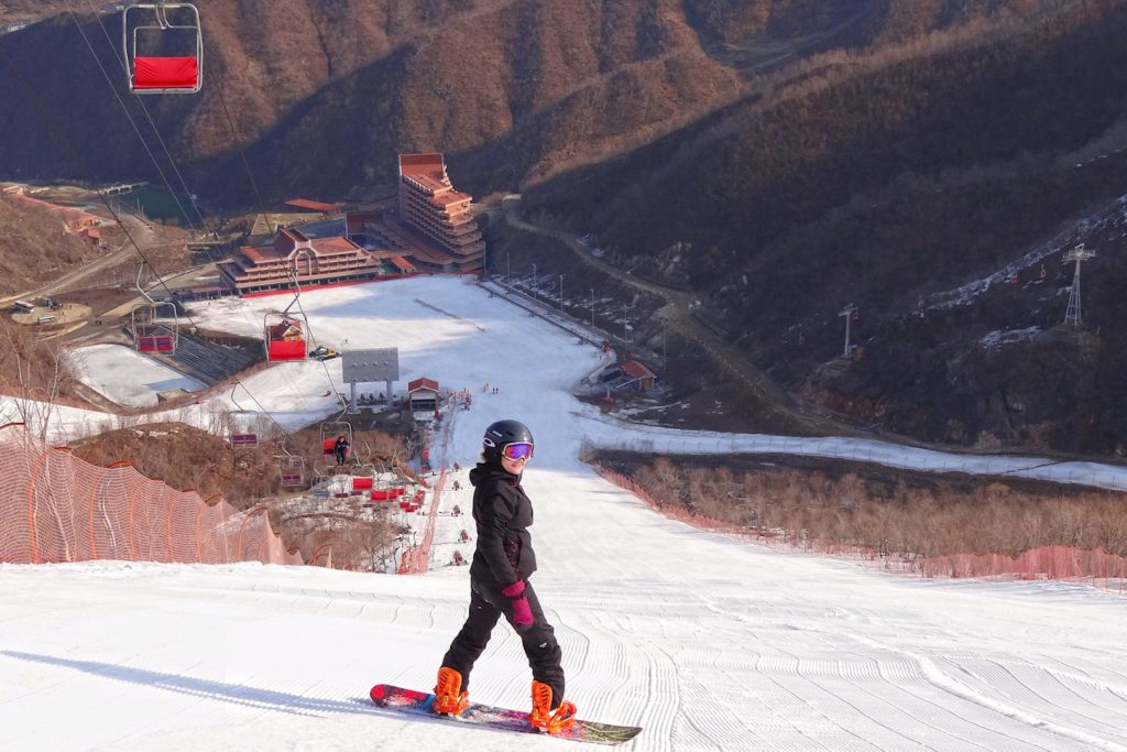 The slopes at the Masikryong Ski Resort aren't too crowded.