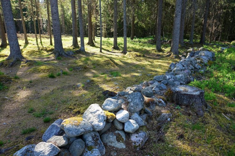 Deep in the forest there's a cemetery in a place where people used to live, Hagajordet.