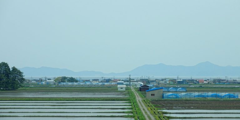 Agriculture at the southern tip of Hokkaido, Japan.