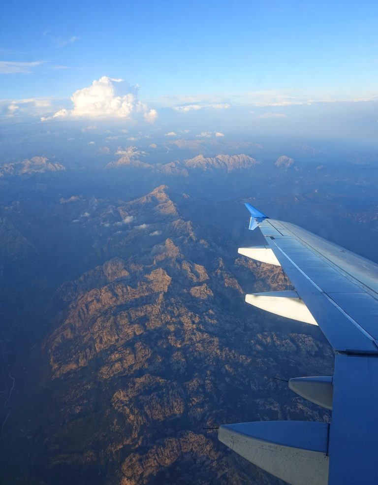 The Accursed Mountains seen from a plane.