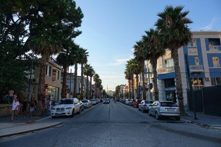 Hollywood Boulevard lookalike in Durrës, Albania.