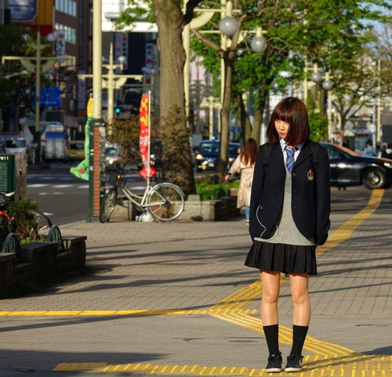 Japanese girl school uniform.