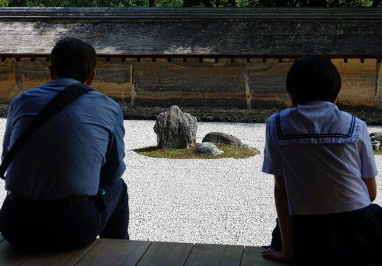 Ryōan-ji stone garden in Kyoto, Japan.